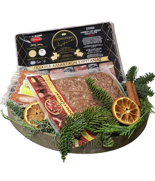 Variety of cold cuts on a tray