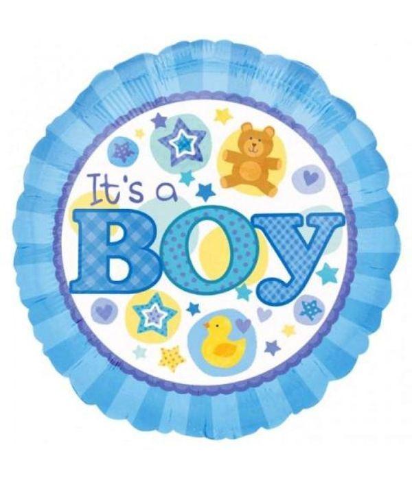 Στρογγυλό Μπαλόνι foil ''It's a Boy'' 43εκ.