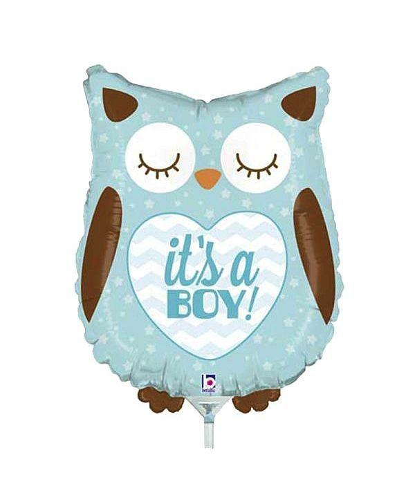 Μπαλόνι foil κουκουβάγια it's a boy