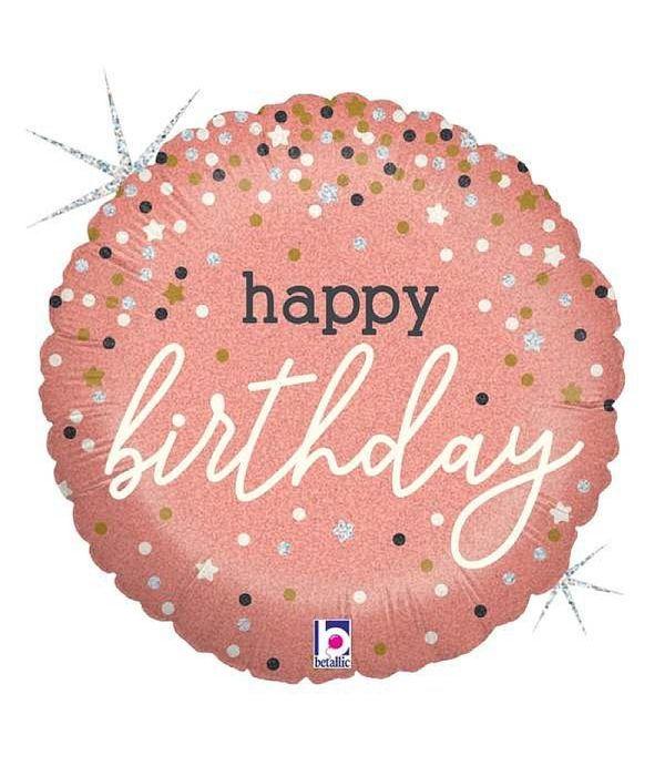 Foil μπαλόνι Happy Birthday 20 εκ
