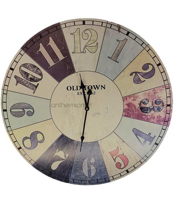 Ρολόι τοίχου OLD TOWN με απεικόνιση στόχου