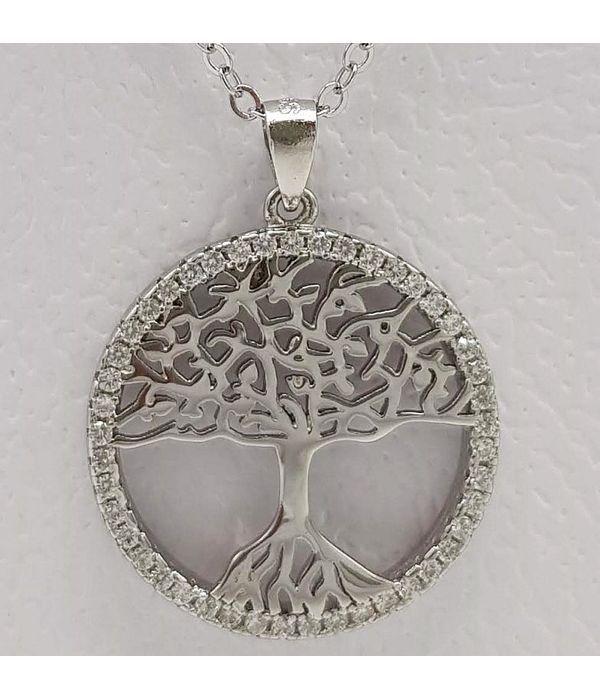 Μενταγιόν ασημί δέντρο της ζωής