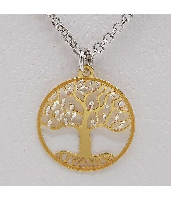 Μενταγιόν χρυσό δέντρο της ζωής