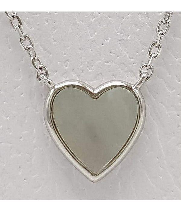 Μενταγιόν ασημένια καρδιά