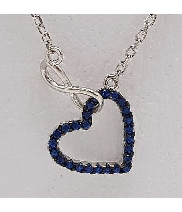 Pendant heart black strass