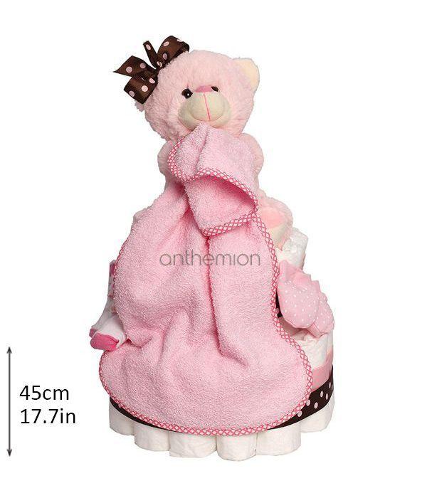 Diapercake για νεογέννητο κοριτσάκι