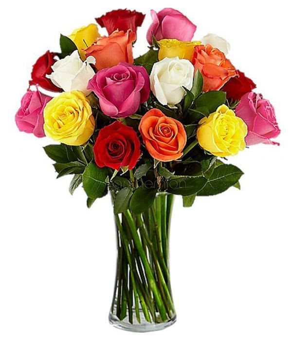 Vibrant bouquet of roses