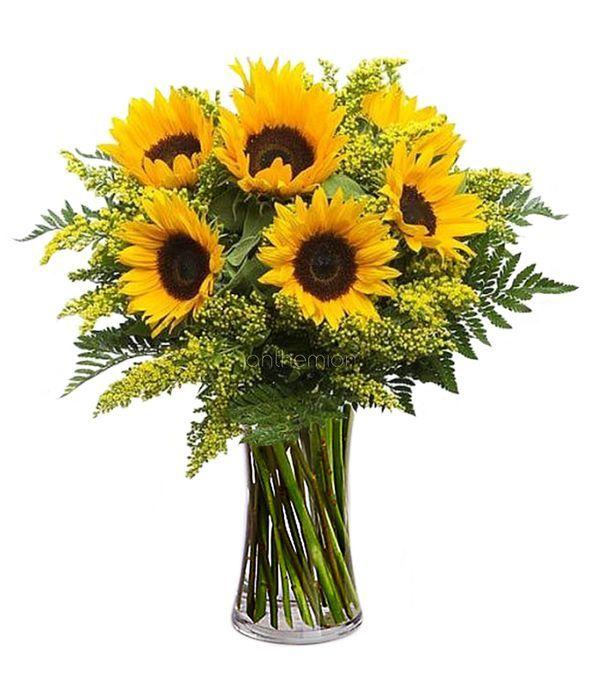 Sunflowers in a beautiful bouquet