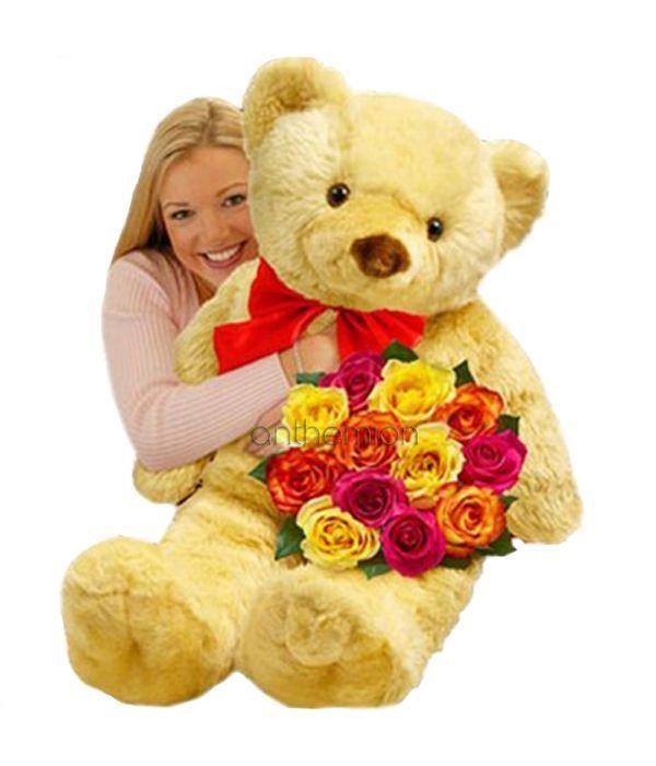 Μια αγκαλιά με τριαντάφυλλα