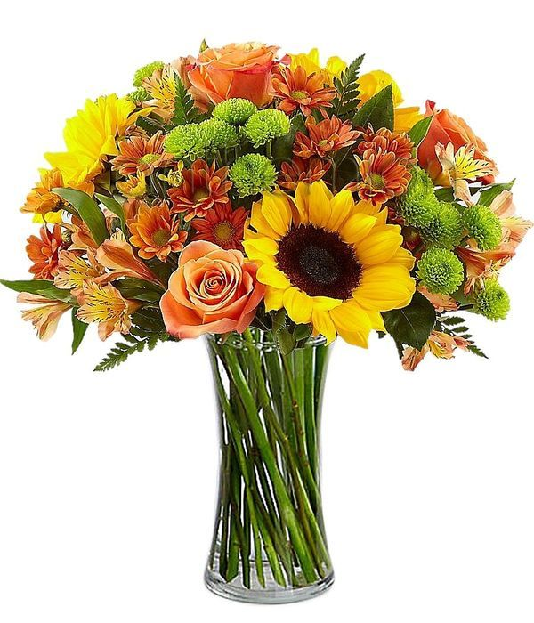 Yellow and orange colored bouquet