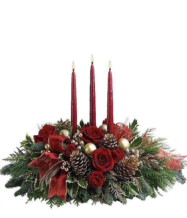 Σύνθεση με τρία κόκκινα κεριά