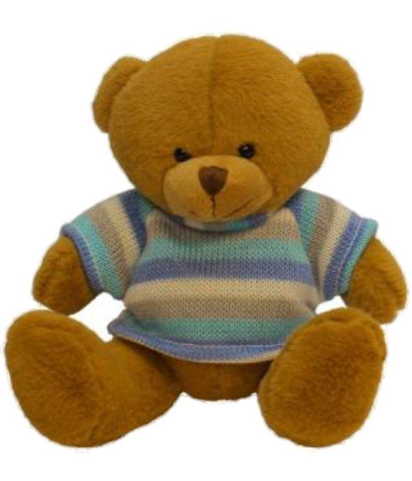 Plush teddy bear with blue t-shirt 15cm