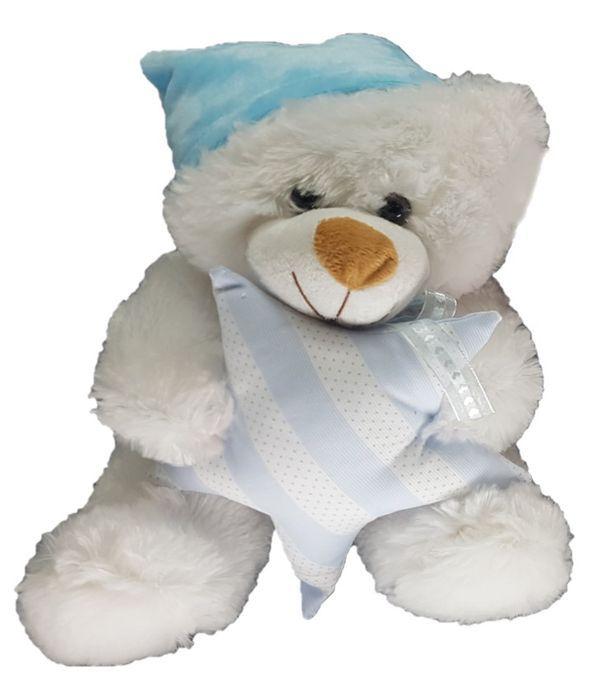 Mπλε αρκουδάκι με αστέρι 25εκ.