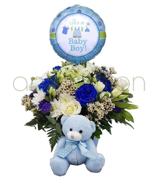Σύνθεση δώρου για νεογέννητο αγοράκι