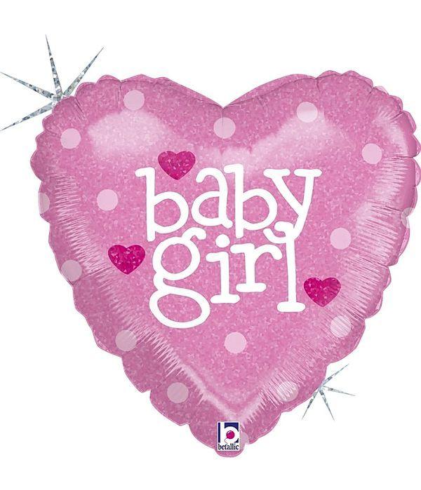 "Foil balloon ""baby girl"" 20cm"