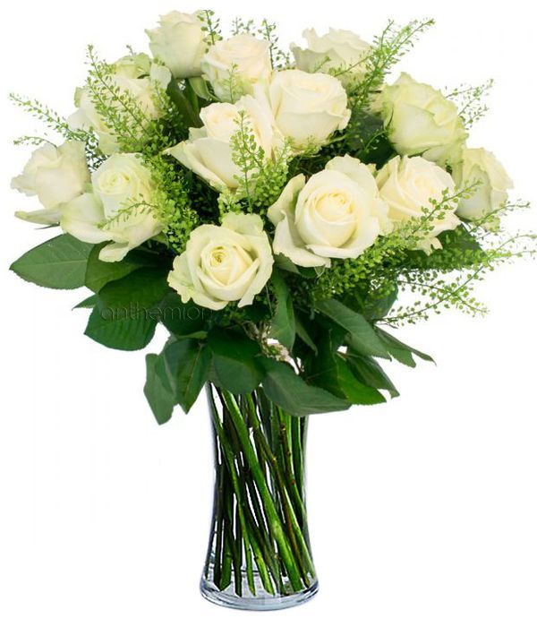 Bouquet with 13 white roses