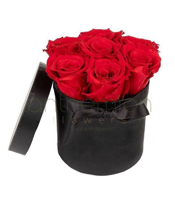 Κουτί με 7 κόκκινα τριαντάφυλλα