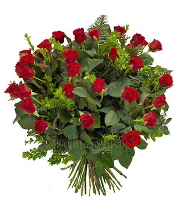 Μπουκέτο με τριαντάφυλλα μπουτόν