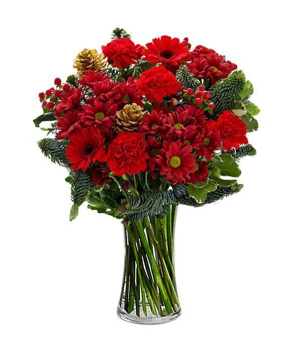 Red festive bouquet