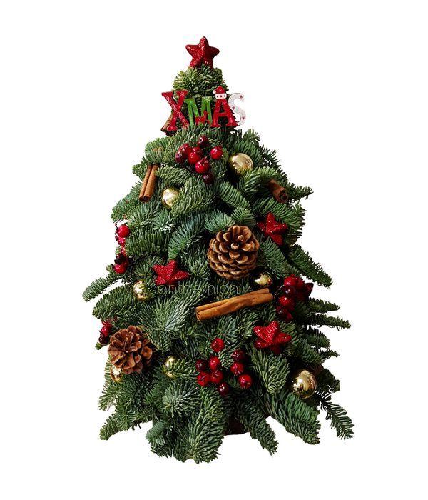 Χριστουγεννιάτικο δέντρο με χρυσά στολίδια
