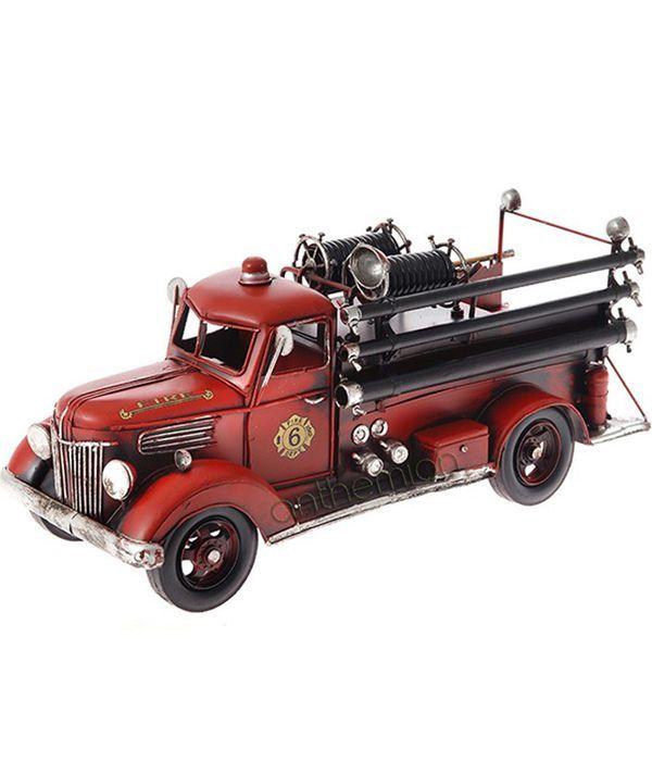 Metallic vintage fire truck