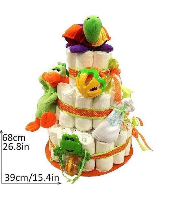 Diapercake για νεογέννητο μωράκι