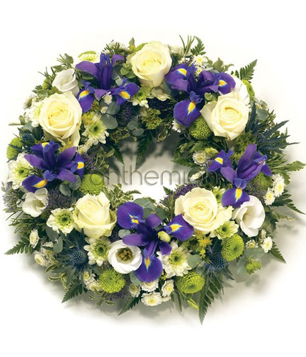 May Wreath in white and purple