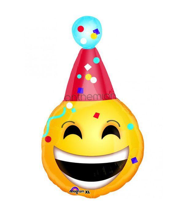 Μπαλόνι foil χαρούμενο πρόσωπο