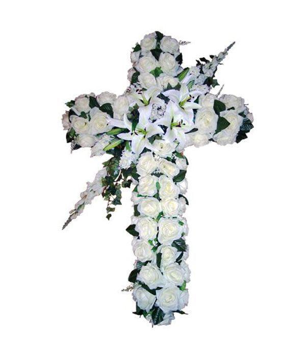 Funeral white cross