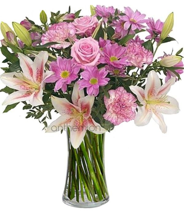Bouquet in pink and lilac shades