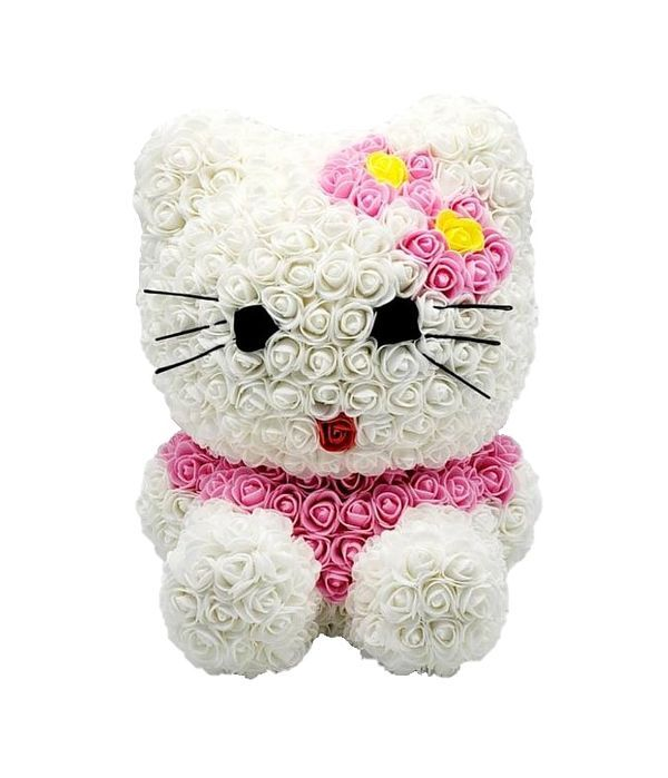 Hello Kitty από συνθετικά τριαντάφυλλα 40 εκ