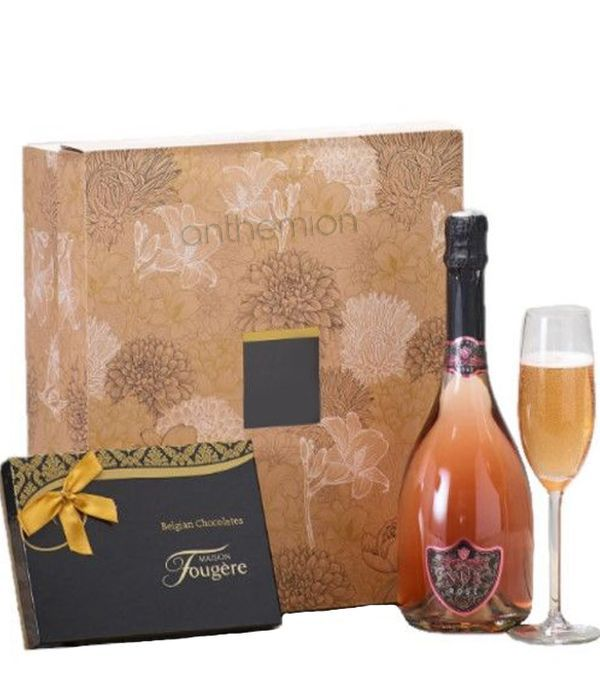 Sparkling Wine and Belgian Chocolates Gift Set