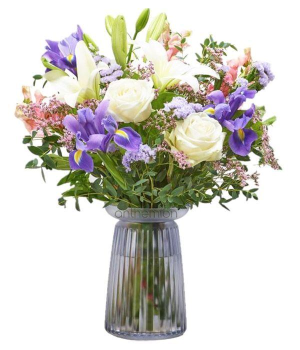 Stunning roses and irises