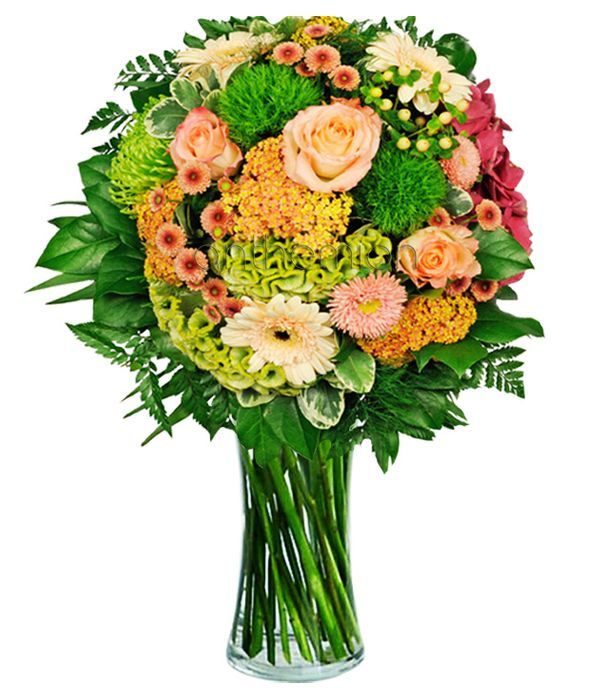 Salmon Delight Bouquet. VASE IS NOT INCLUDED