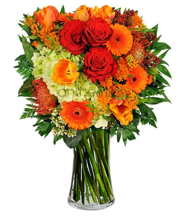 Bright Smiles Bouquet. VASE IS NOT INCLUDED