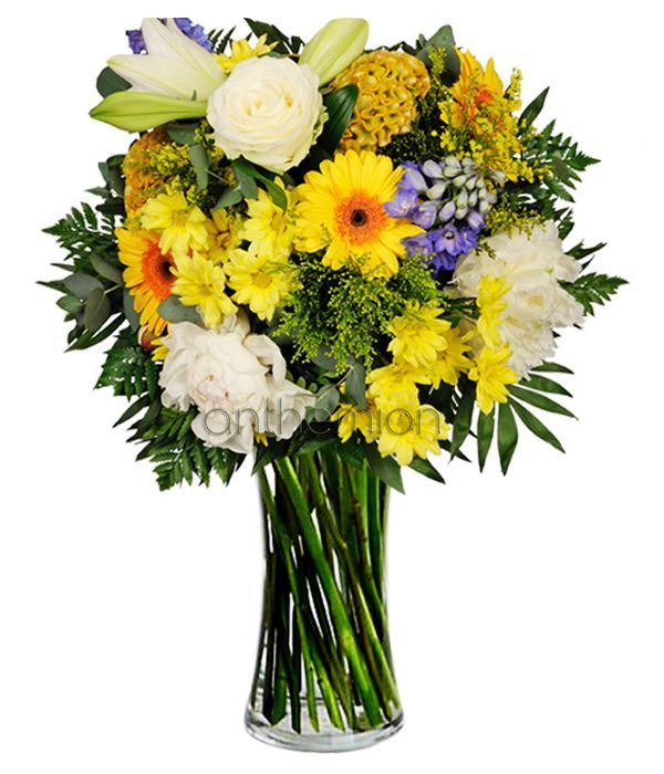 Cheerful Bouquet. VASE IS NOT INCLUDED