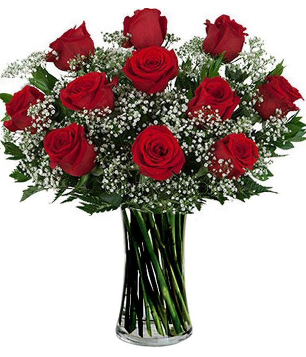 Bouquet with 11 roses