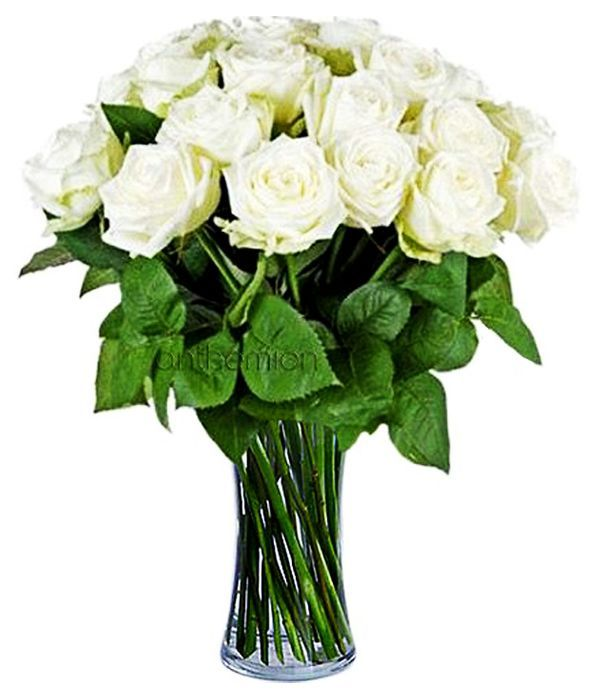 Bouquet with 17 white roses