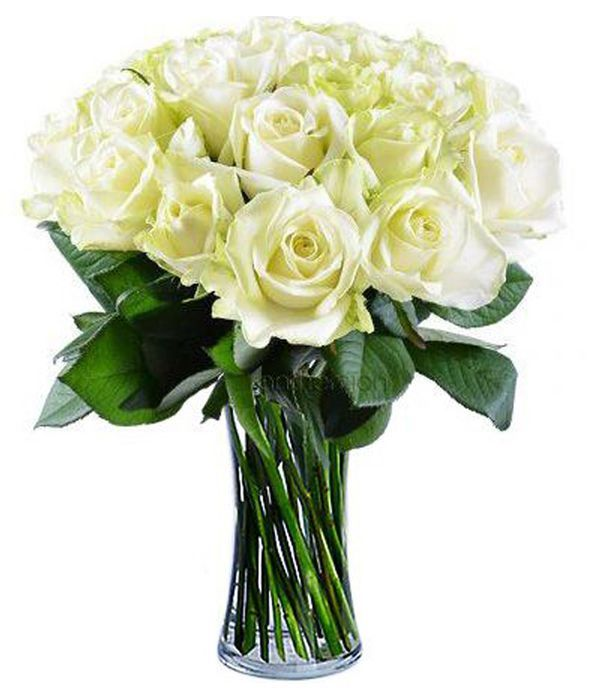 Bouquet with 21 white roses