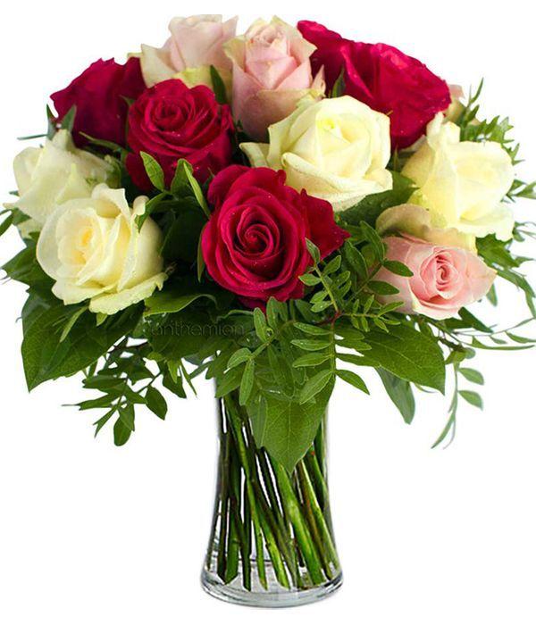 Μπουκέτο με πανέμορφα τριαντάφυλλα