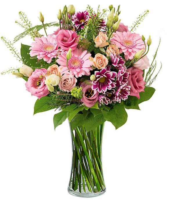 Εκπληκτικά ροζ και εκρού λουλούδια