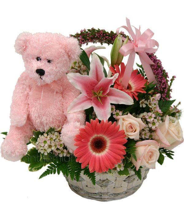 Precious girl with teddy bear