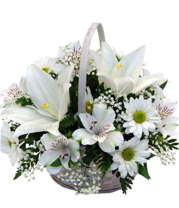 Solace, white arrangement