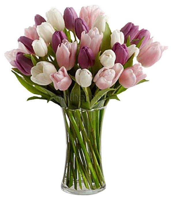 Chic tulip bouquet