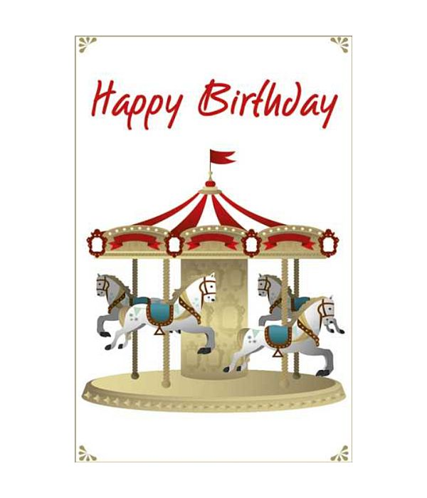 Wishing card with carousel