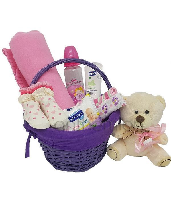 Gift basket for baby girl