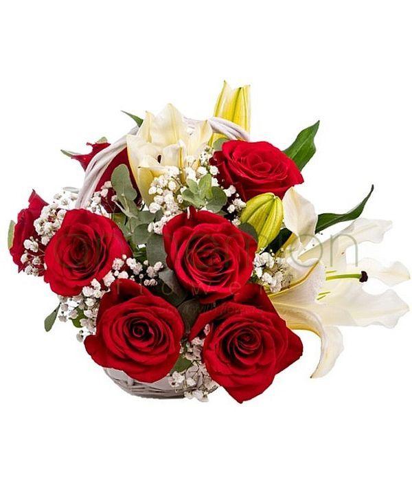 Καλάθι με λουλούδια | Αποστολή Λουλουδιών