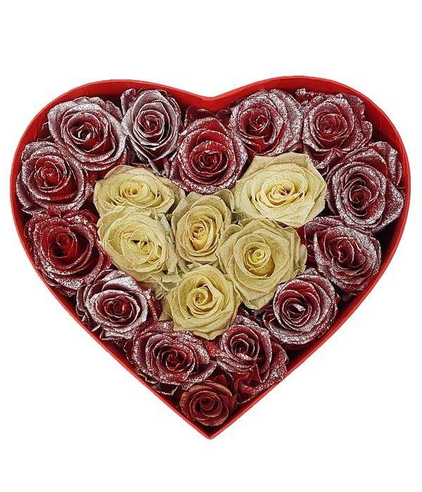 Καρδιά με 20 forever roses