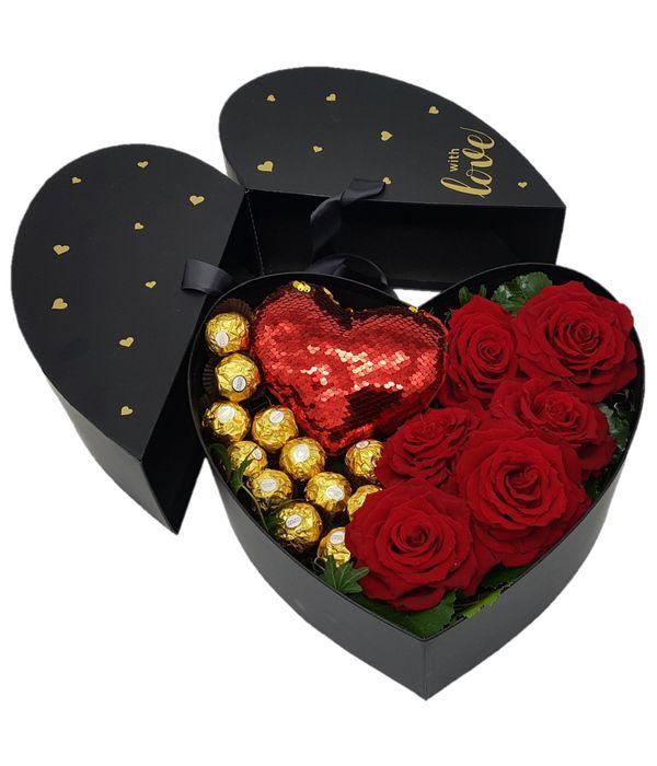Lovely heart in a box