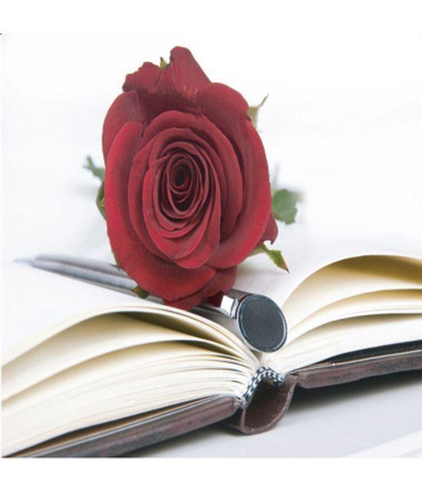 Ευχετήρια κάρτα με τριαντάφυλλο